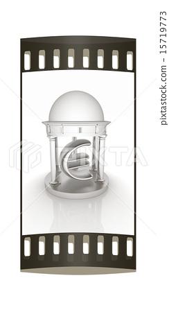 Euro sign in rotunda. The film strip 15719773