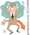 男性全身的老年人服装,其资产正在减少,头部苍白苍白 15723890