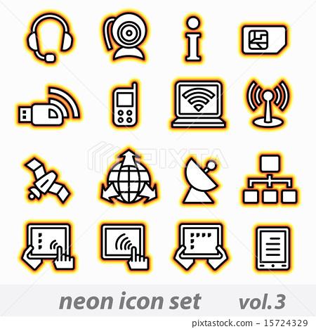 neon icon set(vector, CMYK) 15724329