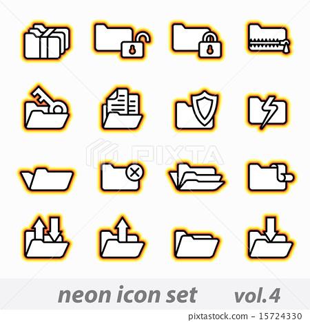 neon icon set(vector, CMYK) 15724330