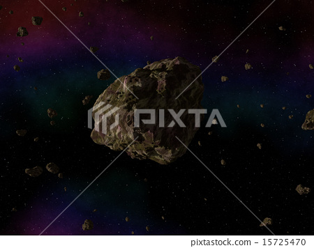 Asteroid in space 15725470