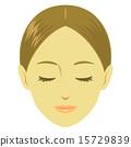 ใบหน้าของหญิงสาวปิดตา 15729839
