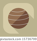 Flat modern design with shadow icon Ball for fitness 15736799