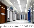 3d elevator lobby rendering 15740553