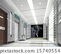 3d elevator lobby rendering 15740554