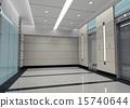 3d elevator lobby rendering 15740644