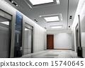 3d elevator lobby rendering 15740645