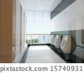3d public bathroom 15740931