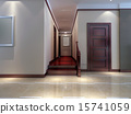 3d render modern interior of corridor. living-room 15741059