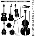Vector country music instruments isolated on white 15744763