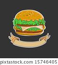 Retro Burgers emblem 15746405