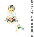儿童和积木男孩 15746430