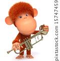 猴子 猴 吉祥物 15747459