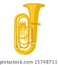 colored flat tuba instrument vector illustration 15748711