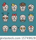Cute skull set 15749628