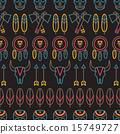 seamless, tribal, pattern 15749727