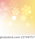 Yellow bright snowflake background 15749757