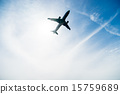飞机 蓝天 蓝蓝的天空 15759689