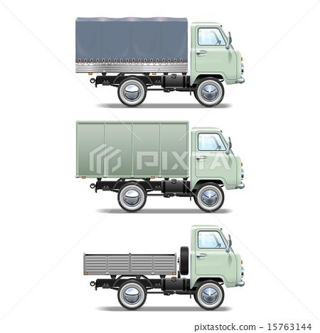 Vector Retro Light Truck 15763144