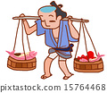 江户时代 鱼铺 兜售 15764468