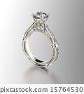Golden  Ring with Diamond. Jewelry backgound 15764530