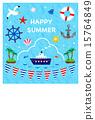 夏季賀卡 明信片模板 海洋 15764849