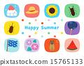 夏季賀卡 版型 排版 15765133