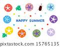 夏季賀卡 牙買加犀金龜 花朵 15765135