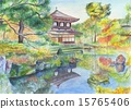 Ginkakuji Watercolor painting 15765406