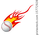 Baseball with flames vector 15772928