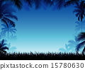 coconut palm silhouette 15780630