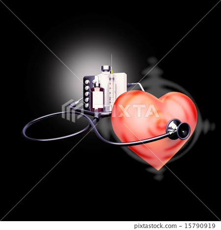 Stethoscope, on, the, heart 15790919