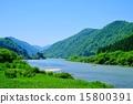 最上川河 鮮綠 翠綠 15800391