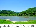 最上川河 鮮綠 翠綠 15800393