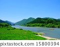 最上川河 鮮綠 翠綠 15800394