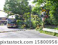 Kananaka bus stop at the railroad crossings 15800956