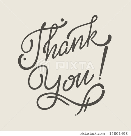 Thank You Hand Lettering Handmade Vector Soft Calligraphy