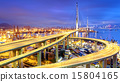 Container Cargo freight ship working crane bridge  15804165