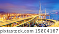 Container Cargo freight ship working crane bridge  15804167