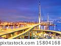 Container Cargo freight ship working crane bridge  15804168