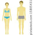 美男/女泳衣 15805431