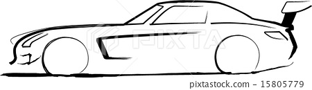 Stock Illustration: motorsport, ride, carriage