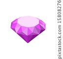 diamond white isolated 15808276