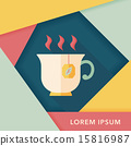 hot tea flat icon with long shadow,eps10 15816987