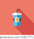 soda drink flat icon with long shadow,eps10 15817771
