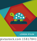 Pet turtle flat icon with long shadow,eps10 15817841