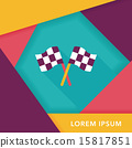 racing flags flat icon with long shadow,eps10 15817851