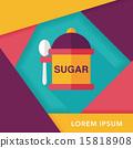 설탕, 아이콘, 평면 15818908
