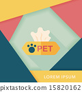 Pet style tissue case flat icon with long shadow,eps10 15820162
