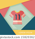 Sports jerseys flat icon with long shadow,eps10 15820362